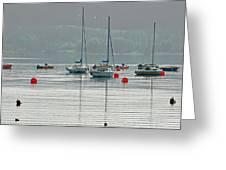 Boats On Carsington Water Greeting Card
