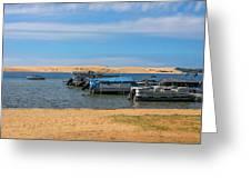 Boats On Silver Lake Michigan Greeting Card