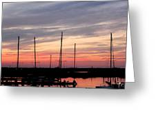 Boats On The Bay Greeting Card