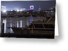 Boats On The Charles River Citgo Sign Boston Massachusetts Greeting Card