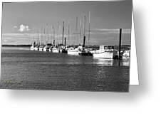 Boats On The Estuary Greeting Card