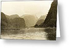 Boats On The River Tam Coc No2 Greeting Card