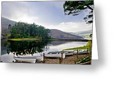 Boats On The Shore. Greeting Card
