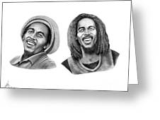 Bob And Bob Marley Greeting Card