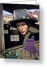 Bob Dylan Surreal Desert Greeting Card