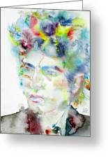 Bob Dylan - Watercolor Portrait.4 Greeting Card