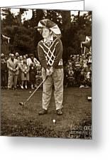 Bob Hope At Pro-am At Pebble Beach California 1953 Greeting Card