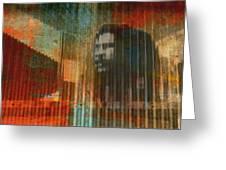 Bob Marley Abstract II Greeting Card