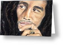 Bob Marley Greeting Card by Ashley Kujan
