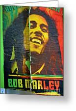 Bob Marley Door At Pickles Usvi Greeting Card