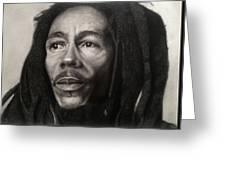 Bob Marley Drawing Greeting Card