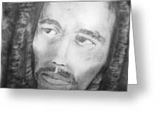 Bob Marley Pencil Portrait Greeting Card