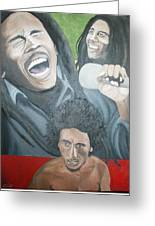 Bob Marley Montage Greeting Card