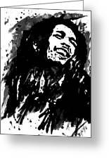 Bob Marley Silhouette   Greeting Card