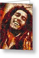 Bob Marley Vegged Out Greeting Card