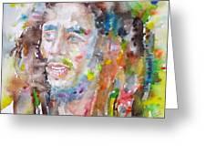 Bob Marley - Watercolor Portrait.17 Greeting Card