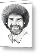 Bob Ross Greeting Card