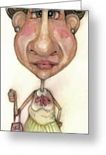 Bobblehead No 33 Greeting Card