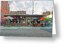 Bobs Downtown Diner Front Door Greeting Card
