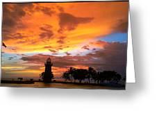 Boca Chita Sunset Greeting Card