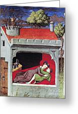 Boccaccio: Lovers, C1430 Greeting Card