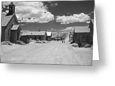 Bodie A Ghost Town Infrared  Greeting Card
