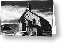 Bodie Church 1977 Greeting Card