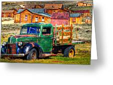 Bodie Ghost Town Green Truck Greeting Card