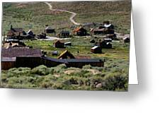 Bodie Ghost Town Panorama Greeting Card