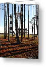 Bodie Island Light Through The Pines Greeting Card
