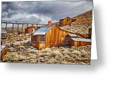 Bodie Stamp Mill, Sunrise With A Dusting Of Snow Greeting Card