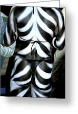 Body Stripes Greeting Card
