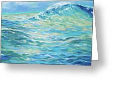 Bodysurfing Rolling Wave Greeting Card