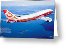 Boeing 747-8 Greeting Card