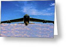 Boeing B-52 Stratofortress Oil Greeting Card