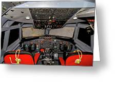 Boeing C-135 Cockpit Greeting Card