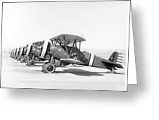Boeing P-12f4b, 1930s Greeting Card