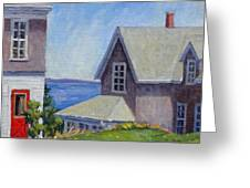 Bogdanov House Monhegan Greeting Card by Thor Wickstrom