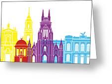 Bogota Skyline Pop Greeting Card