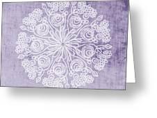 Boho Floral Mandala 1- Art By Linda Woods Greeting Card