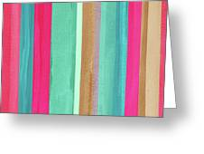 Boho Stripe- Art By Linda Woods Greeting Card