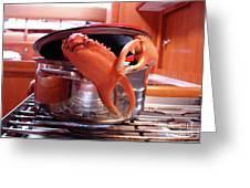Boiled Crab Greeting Card