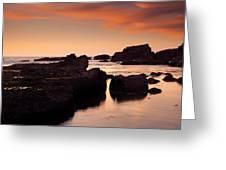 Boiler Bay Sunset Greeting Card