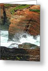 Boiler Bay Waves Greeting Card