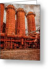 boilers at Sloss Greeting Card