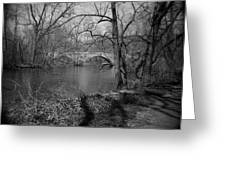 Boiling Springs Stone Bridge Greeting Card