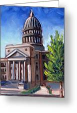 Boise Capitol Building 01 Greeting Card