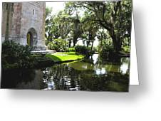 Bok Tower With Moat Greeting Card