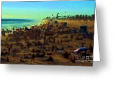 Bokeh Beach Greeting Card