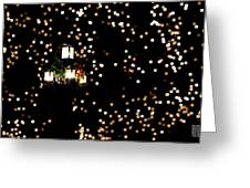 Bokeh Lantern Greeting Card